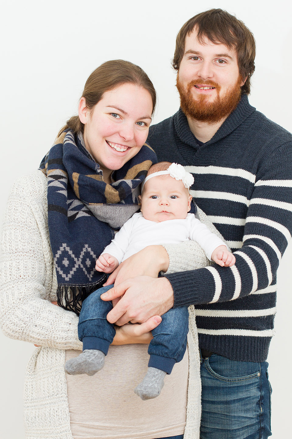 Studio style family portraits taken in Orangeville by Frank Myrland Photography