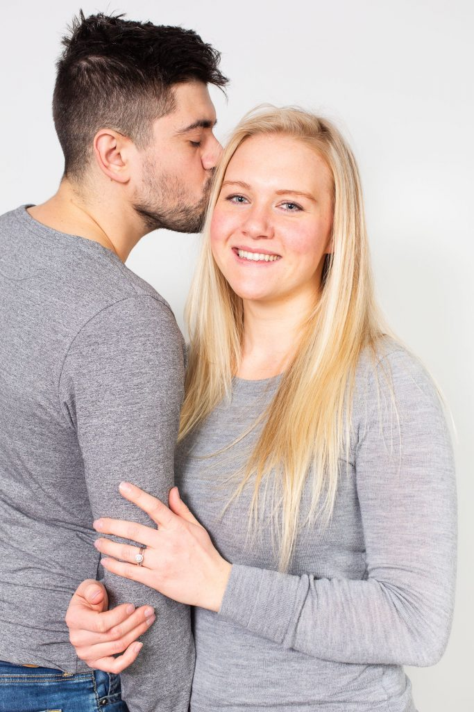 Orangeville family portrait photography by Frank Myrland of a married couple in a studio setting